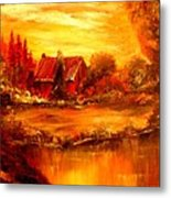 Old Dutch Farm Metal Print