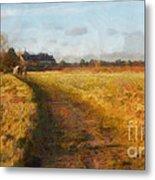 Old English Landscape Metal Print by Pixel Chimp
