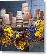 Old English Victorian Potting Shed Metal Print by Tim Gainey