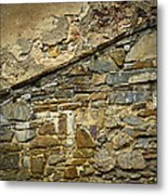 Old Eroded Stone Wall Metal Print