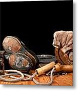 Old Exercise Equipment Metal Print
