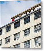 Old Factory Under A Clear Blue Sky Metal Print