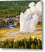 Old Faithful From Observation Point Metal Print
