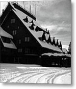 Old Faithful Inn In Winter Metal Print