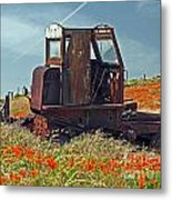Old Farm Equipment Metal Print