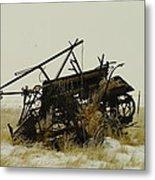 Old Farm Equipment Northwest North Dakota Metal Print by Jeff Swan