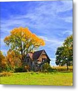 Old Farm Home Metal Print