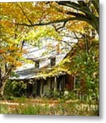 Old Farm House Behind Color Metal Print