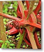 Old Farm Tractor Wheel Metal Print