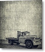 Old Farm Truck Cover Metal Print
