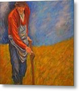 Old Farmer Michel Metal Print
