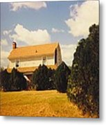 Old Farmhouse Landscape Metal Print