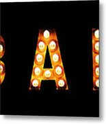 Old-fashioned Bar Sign Metal Print