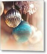 Old-fashioned Christmas Decorations Metal Print by Jane Rix