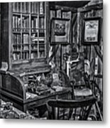Old Fashioned Doctor's Office Bw Metal Print