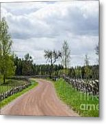 Old Fashioned Gravel Road Metal Print