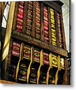 Old Fashioned Herbs And Spices Metal Print