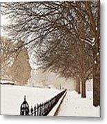 Old Fashioned Winter Metal Print