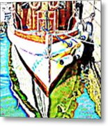 We Will Soon Go Away With The Old Ferry  Metal Print