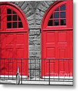 Old Fire Hall Doors Metal Print