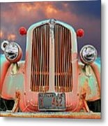Old Firefighter Metal Print