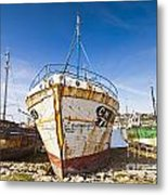 Old Fishing Boats Camaret-sur-mer Brittany France Metal Print by Colin and Linda McKie