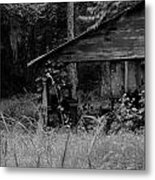 Old Fishing Shed Metal Print