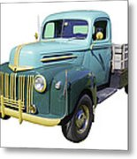 Old Flat Bed Ford Work Truck Metal Print