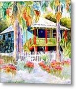 Old Florida House  Metal Print