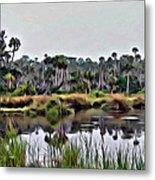 Old Florida Waterway Metal Print