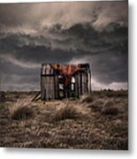 Old Forgotten Shade With Red Fish Net Metal Print