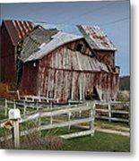 Old Forlorn Decrepid Wooden Barn Metal Print