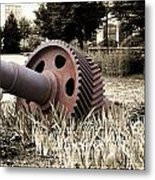 Old Foundry Gear Metal Print