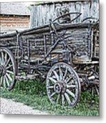 Old Freight Wagon - Montana Territory Metal Print