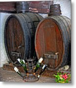 Old French Wine Casks Metal Print