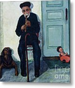 Old Friends And A Flute Metal Print