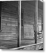 Old Front Country Porch  Metal Print