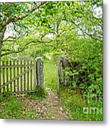 Old Garden Gate Metal Print