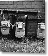 Old Gas Meters Metal Print