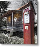 Old Gas Pump Metal Print by Debra and Dave Vanderlaan