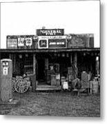 Old Gas Station Metal Print