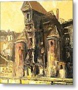 Old Gdansk - The Crane Metal Print