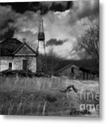 Old Georgia Farm Metal Print