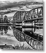 Old Georgia Florida Bridge Metal Print