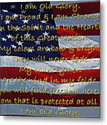 Old Glory Metal Print by Robyn Stacey