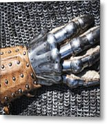 Old Glove Of A Medieval Knight Metal Print