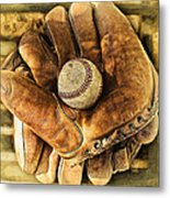 Old Gloves Metal Print