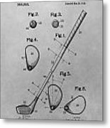 Old Golf Club Patent Illustration Metal Print