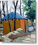 Old Golf Course Shed No.5 Metal Print