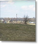Old Gray Shed On The Hill Metal Print